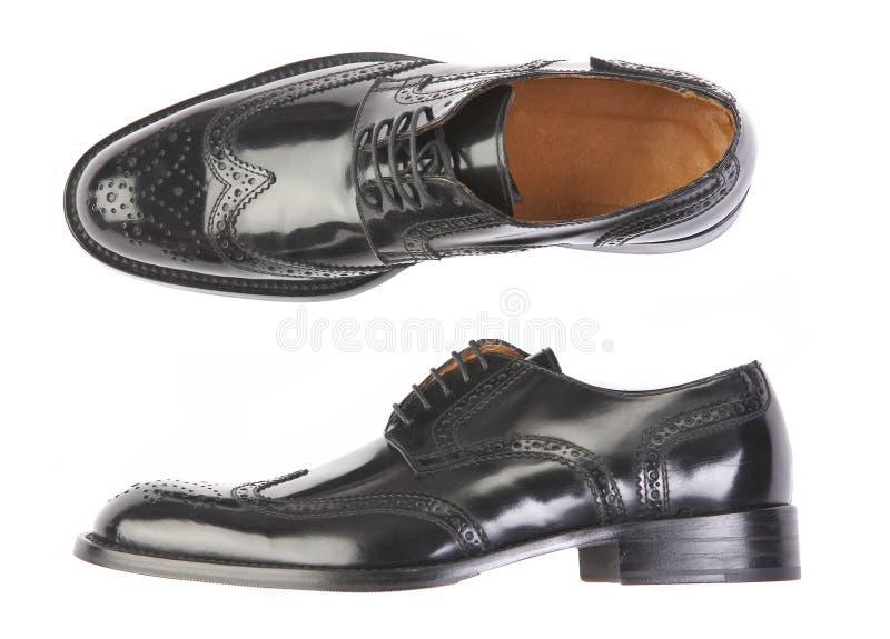 człowiek jest but obraz stock