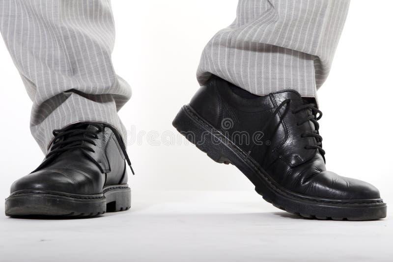 człowiek jest buty zdjęcie stock