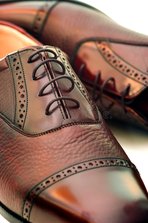 człowiek jest buty obrazy stock