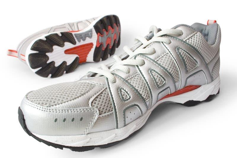człowiek jest buty jogging obrazy stock
