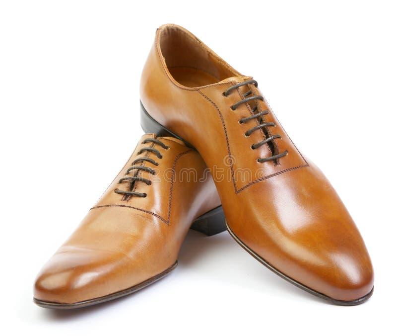 człowiek jest tło białe buty obraz stock