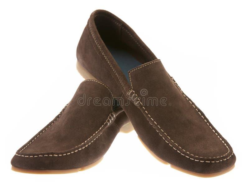 człowiek jest tło białe buty fotografia stock