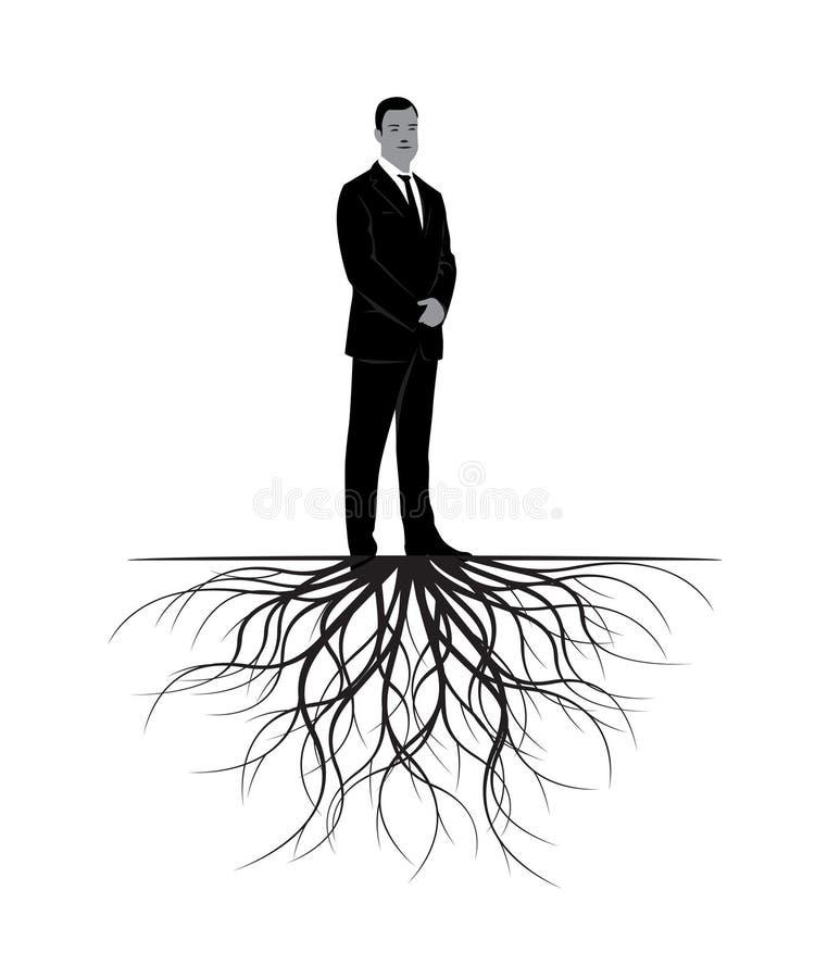 człowiek korzenie również zwrócić corel ilustracji wektora royalty ilustracja