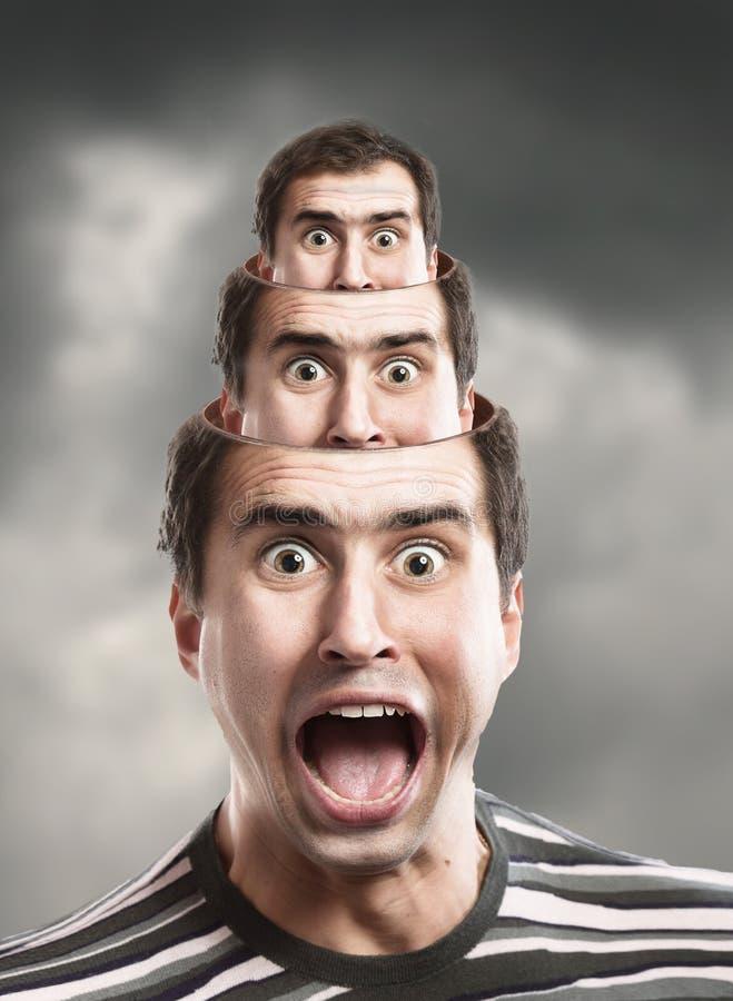 człowiek krzyczeć fotografia stock
