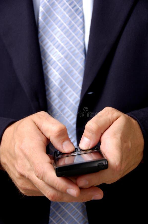 człowiek mądry biznesowego telefon fotografia stock