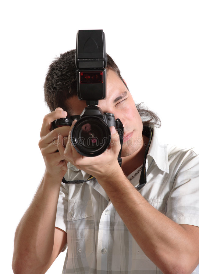 człowiek młody fotograf obrazy royalty free
