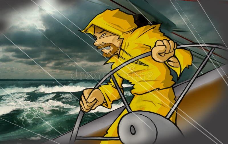 człowiek morza royalty ilustracja