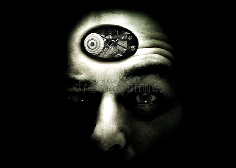 człowiek myśli wewnętrzny ilustracji