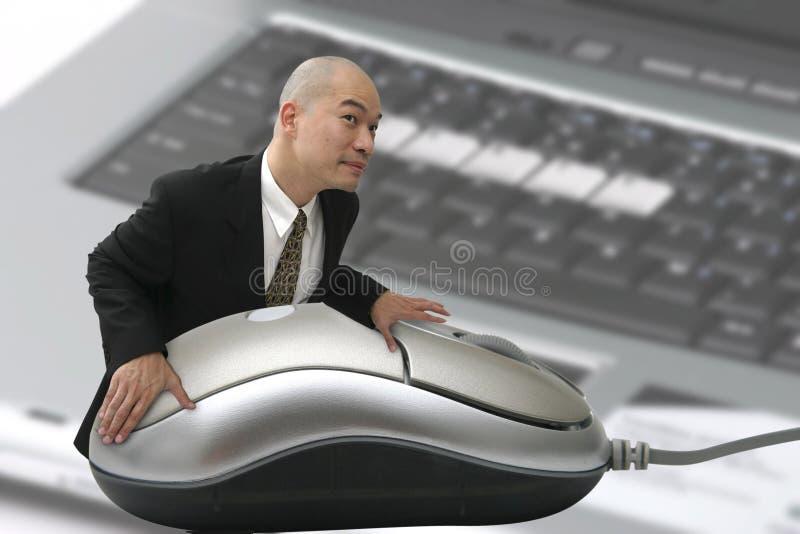 człowiek mysz obrazy royalty free