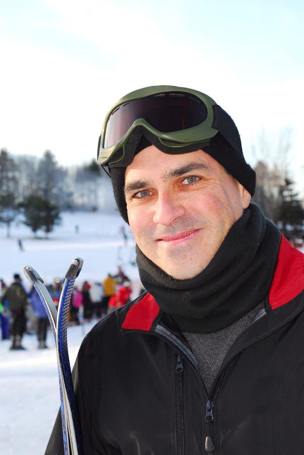 człowiek na nartach obrazy royalty free
