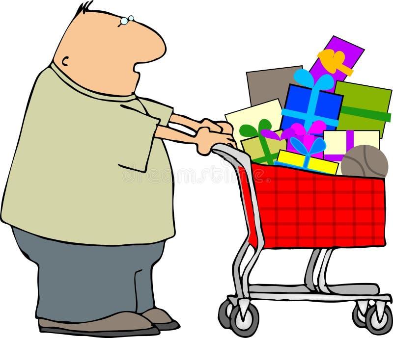 człowiek na zakupy ilustracja wektor