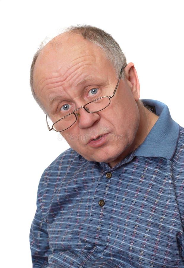człowiek o senior zdjęcie stock