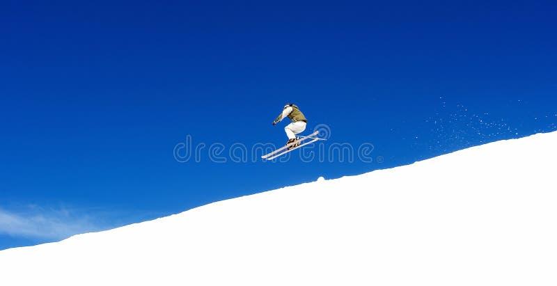 człowiek pradollano kurortu narciarstwa stoki narciarskie Hiszpanii fotografia stock