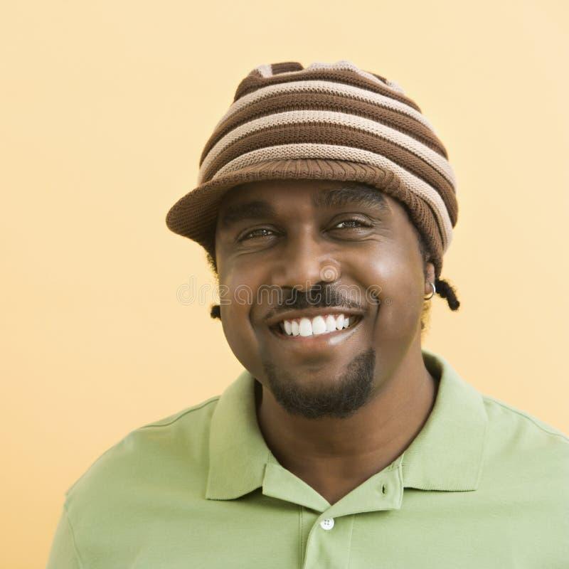 człowiek przystojny kapelusz zdjęcie stock