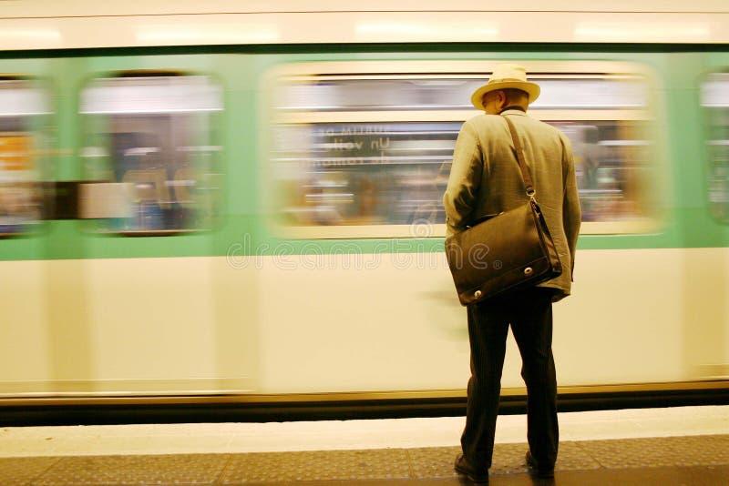 człowiek rurkę czeka zdjęcia stock