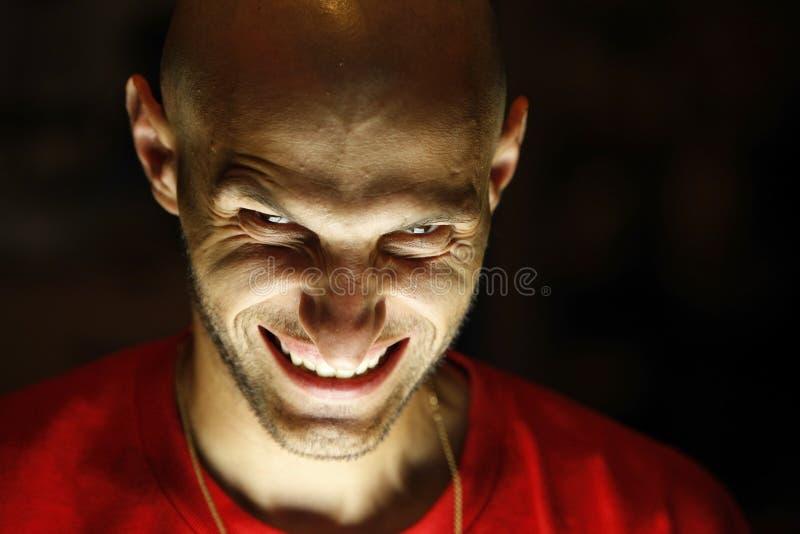 człowiek scarry przerażające obrazy stock