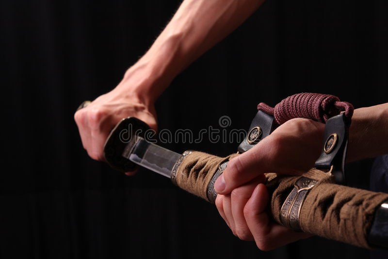 człowiek się samurajów miecz fotografia royalty free