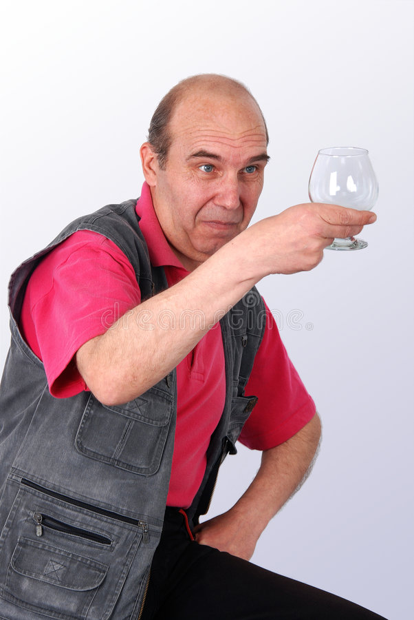 człowiek starszy szklanego niespodzianka royalty ilustracja