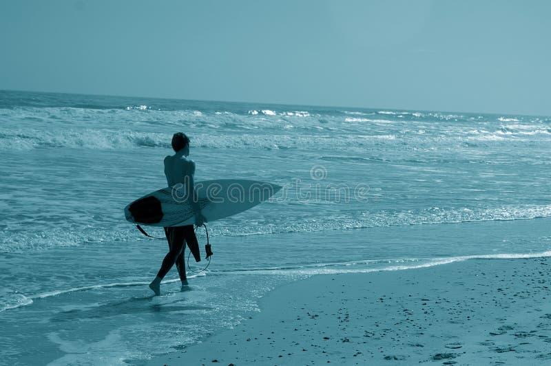 człowiek surfera fotografia stock