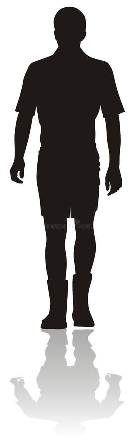 człowiek sylwetki young ilustracja wektor