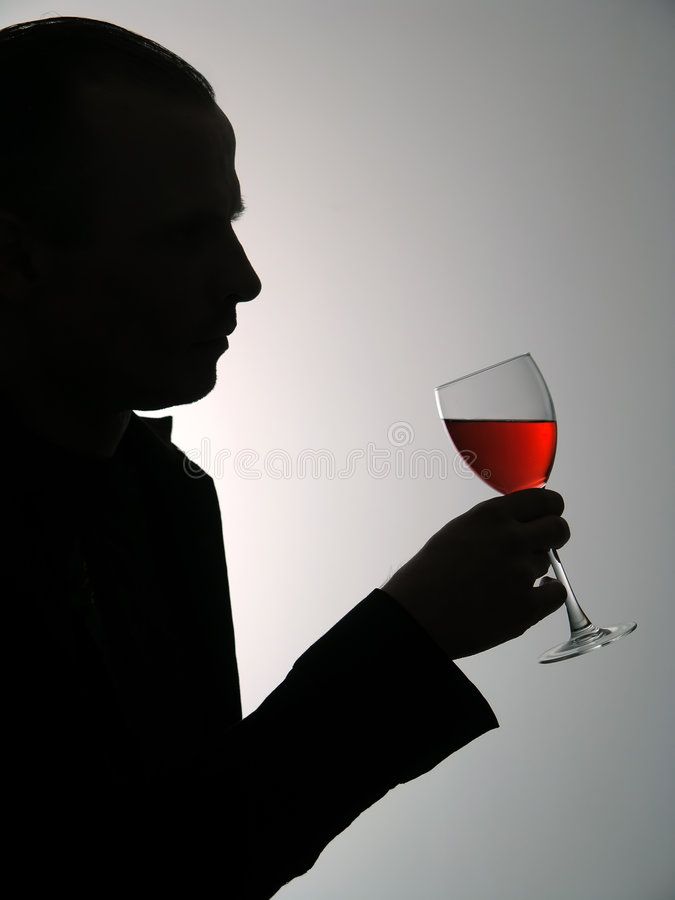 człowiek szkło wina zdjęcia stock
