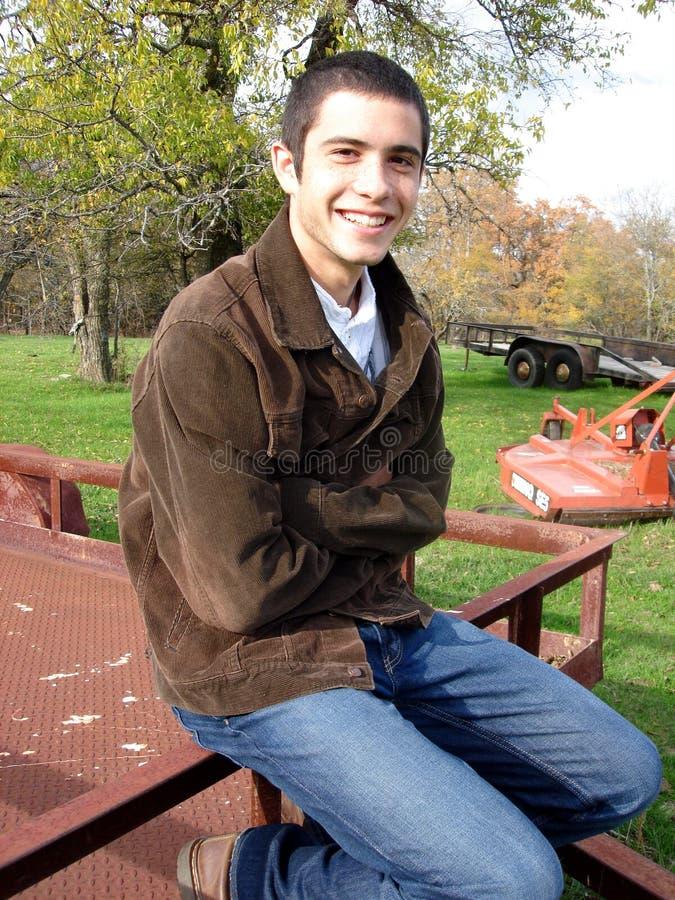 człowiek uśmiechnięci young fotografia royalty free