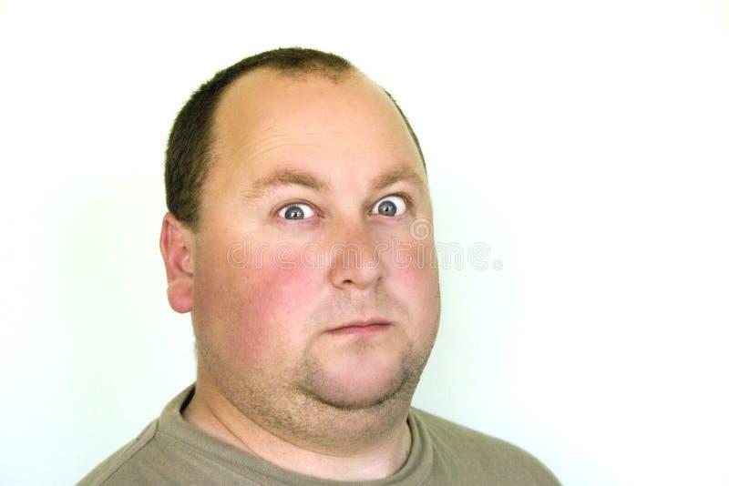 człowiek z nadwagą portret obraz stock