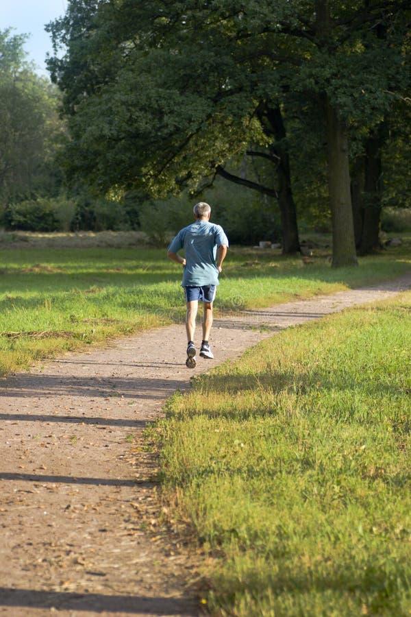 człowiek zdrowy jogging dojrzałe fotografia royalty free