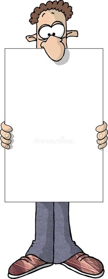 Download Człowiek znak ilustracji. Ilustracja złożonej z reklama - 35667