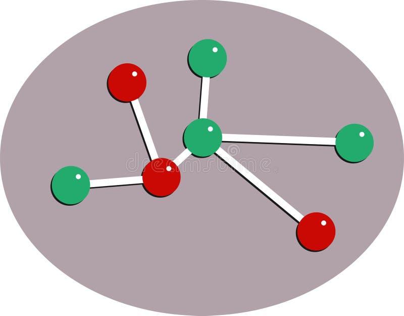 Download Cząsteczki ilustracja wektor. Obraz złożonej z fizyka, grafika - 49553