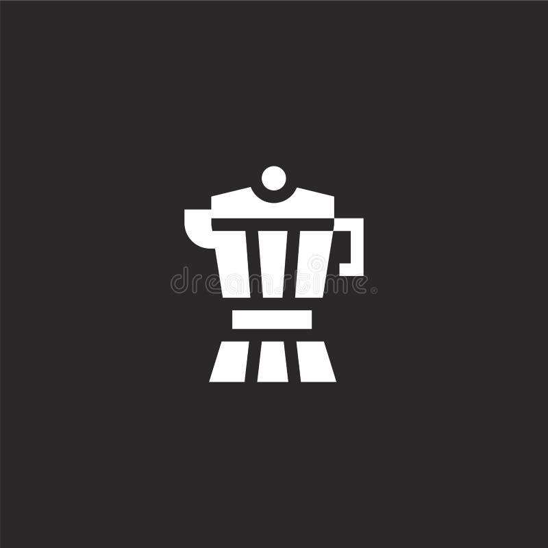 Czajnik ikona Wypełniająca czajnik ikona dla strona internetowa projekta i wiszącej ozdoby, app rozwój czajnik ikona od wypełniaj ilustracja wektor