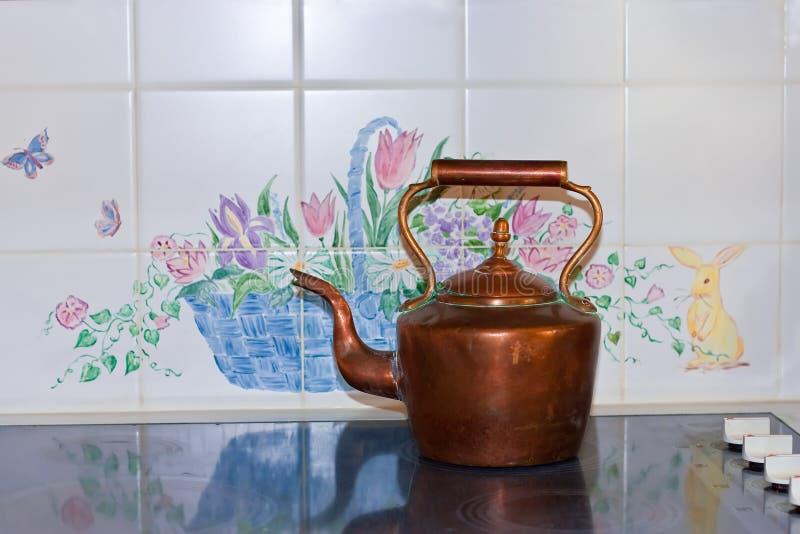czajnik miedziana herbata fotografia stock