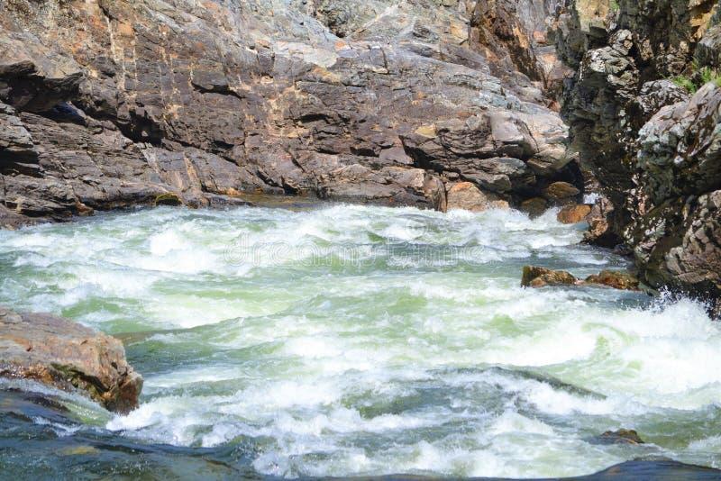 Czajnik rzeka Christina jeziorem BC obraz royalty free