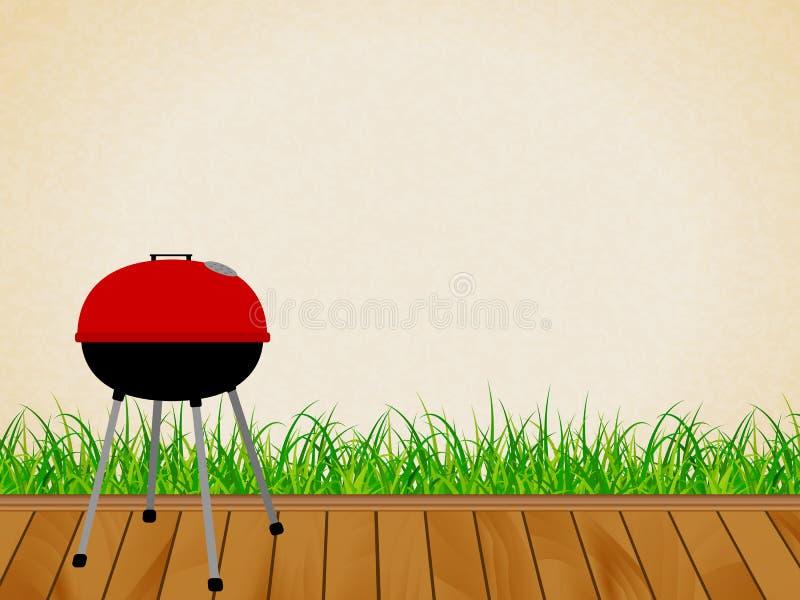 Czajnika grilla grill ilustracja wektor