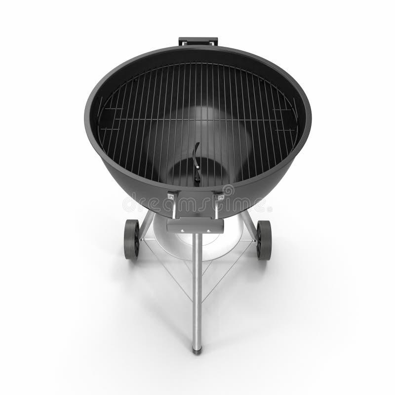 Czajnika grilla grill z pokrywą odizolowywającą na bielu 3D ilustracja, ścinek ścieżka royalty ilustracja
