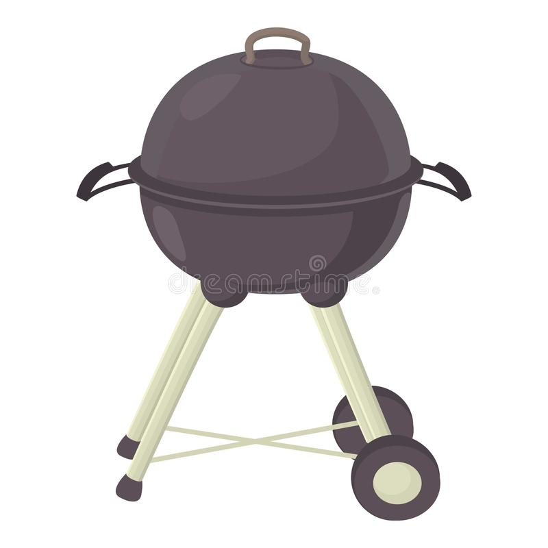 Czajnika grilla ikona, kreskówka styl ilustracji