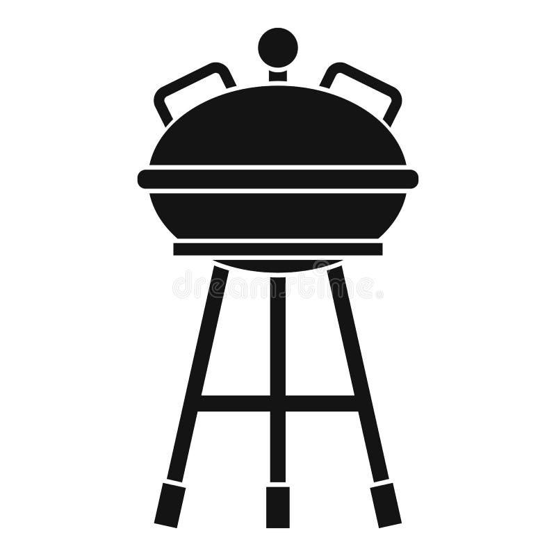 Czajnika grilla ikona, prosty styl ilustracja wektor