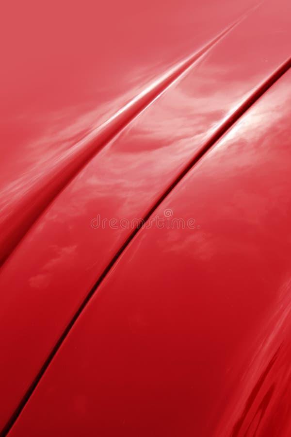 czapeczki błyszczący samochodowy czerwony zdjęcie stock