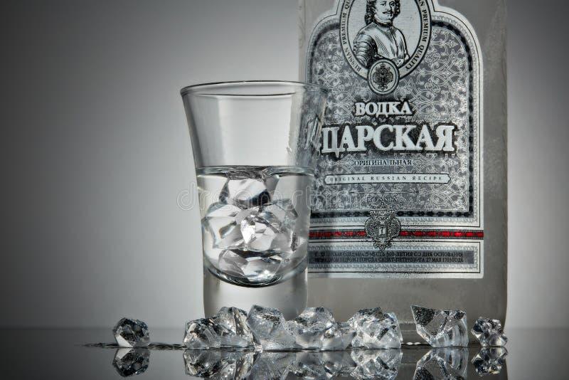 Czar da vodca do russo imagens de stock royalty free