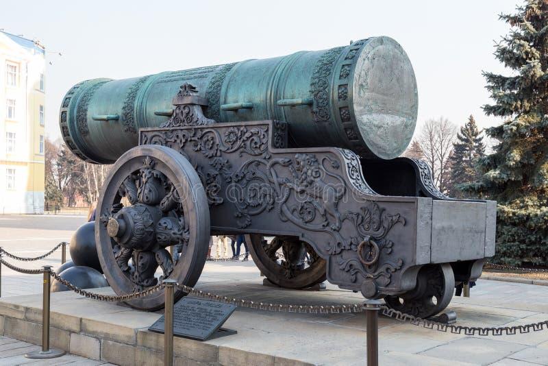 Czar-pushka (Rei-canhão) no Kremlin de Moscou Rússia fotografia de stock royalty free