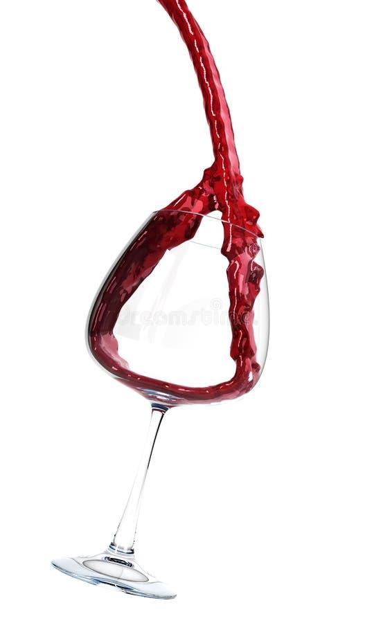 czara dolewania wino royalty ilustracja