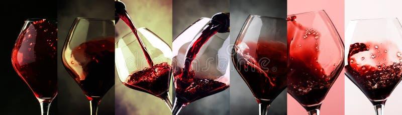 czara ręki degustaci wino Napoju tło  obrazy royalty free