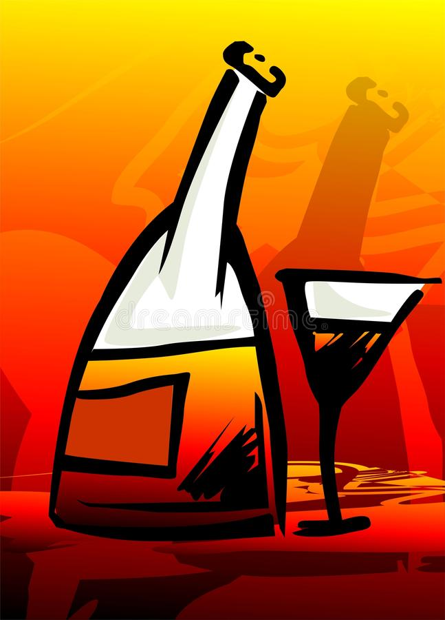 czara wino ilustracja wektor