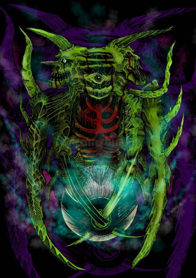 Czarci potwór fotografia royalty free