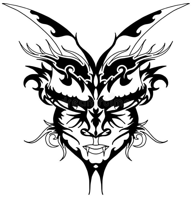 czarci tatuaż ilustracja wektor