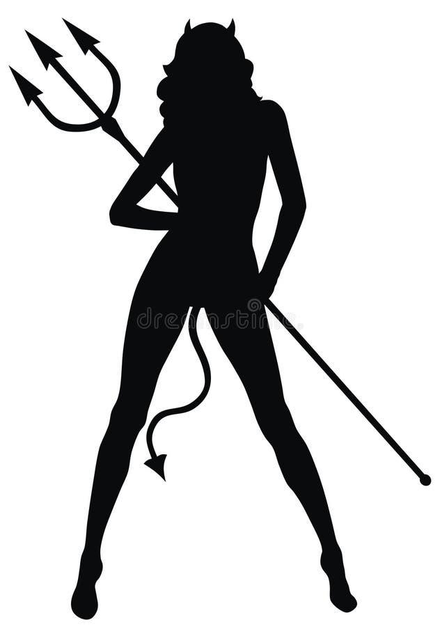 czarcia kobieta ilustracja wektor