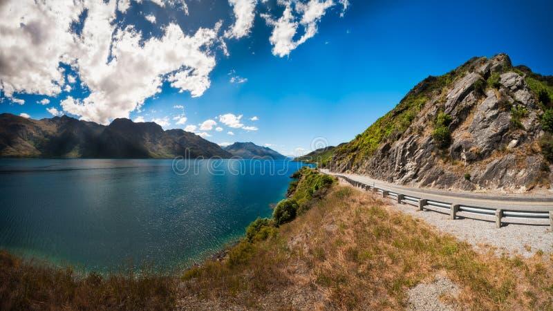 Czarciego schody sceniczny punkt obserwacyjny, Queenstown, Nowa Zelandia zdjęcia royalty free