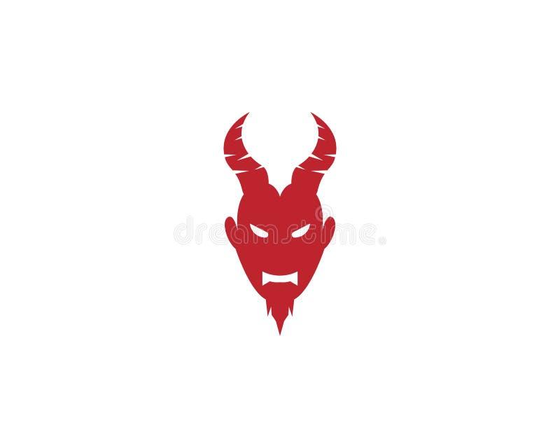 Czarciego wektorowego ikona projekta logo ilustracyjny szablon ilustracja wektor