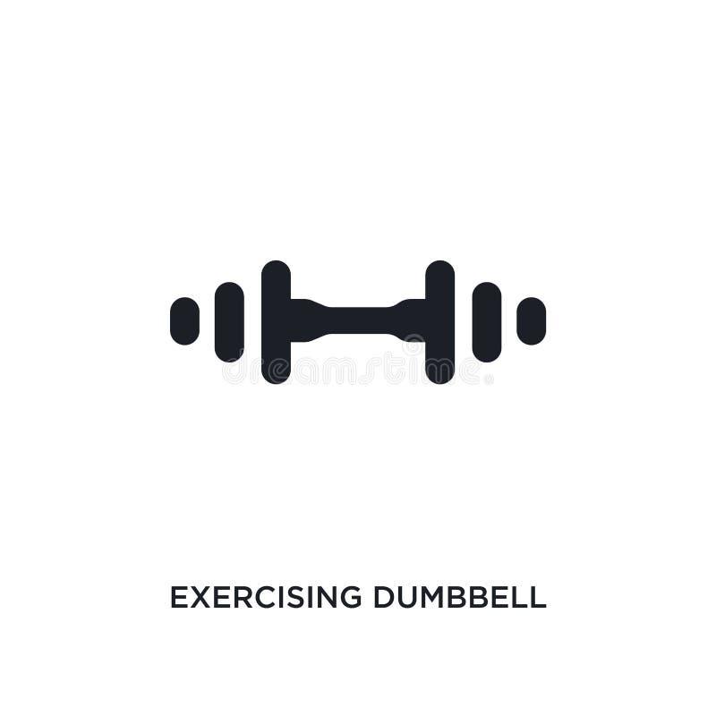 czarna ćwiczy dumbbell odosobniona wektorowa ikona prosta element ilustracja od gym i sprawności fizycznej pojęcia wektoru ikon _ ilustracji
