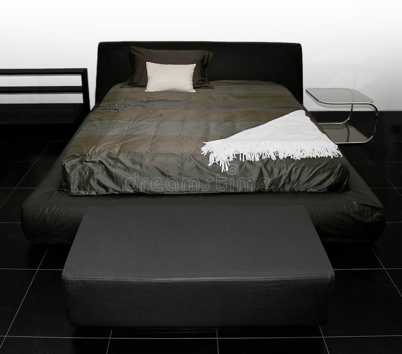 czarna łóżka obraz stock